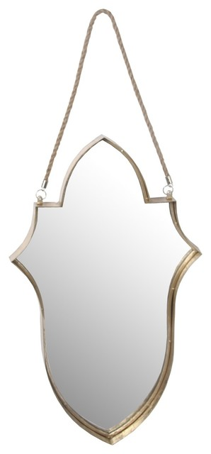 Privilege International Hanging Accent Mirror, Gold.