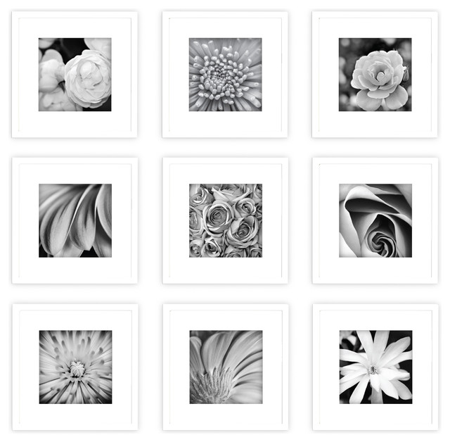 Gallery Perfect 9 Piece White Frame Kit - Contemporary - Picture ...
