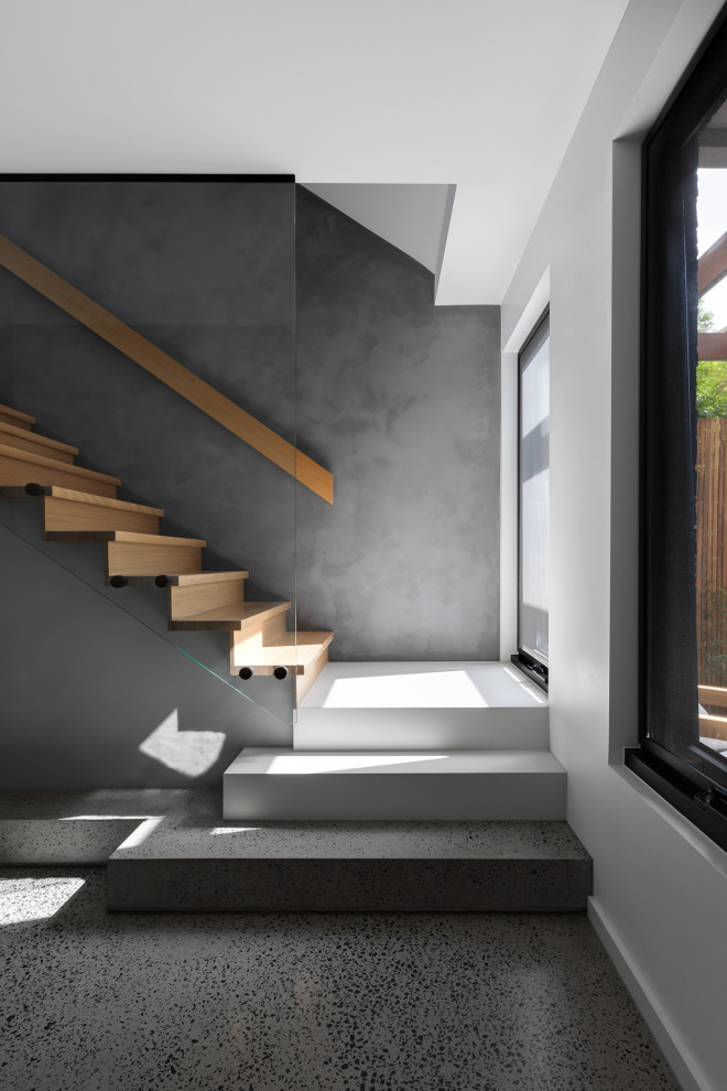 Contemporary staircase in Melbourne.