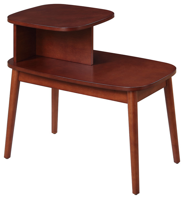 Maxwell Mid Century End Table, Mahogany Midcentury Side Tables And End