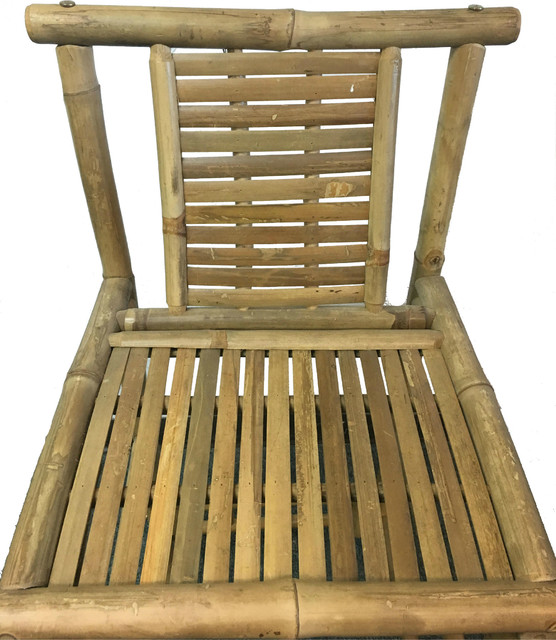Bamboo Tiki Bar Stools With Back Support, 18wx45h, Set Of 2.