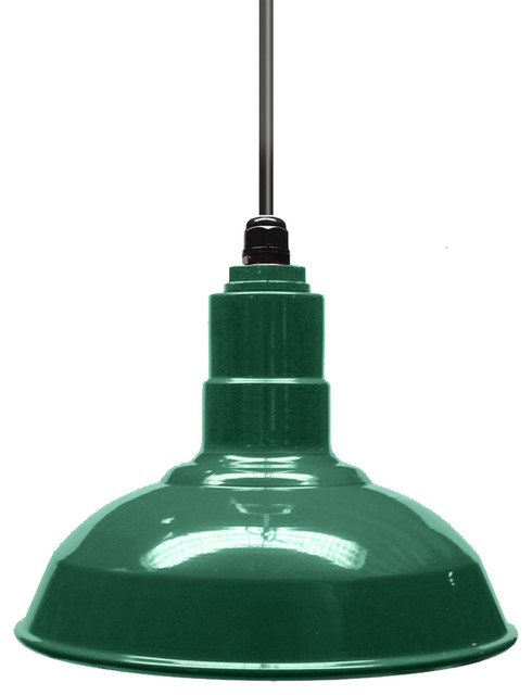 "12"" Standard Steel Warehouse Style Pendant Light."