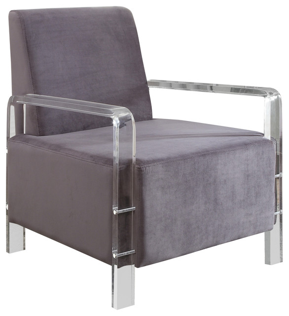 Liam Velvet Accent Chair Contemporary Armchairs And