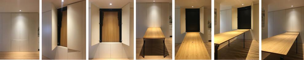 Mobiliario a medida: mesa oculta