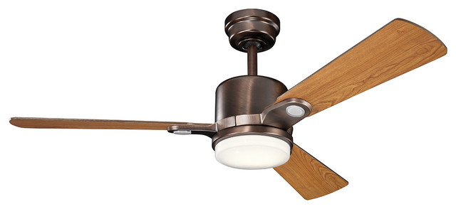 Celino 1-Light Indoor Ceiling Fans, Oil Brushed Bronze.