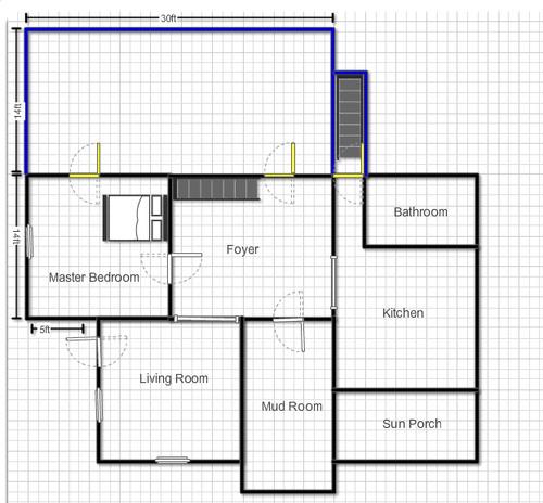 master bedroom with office floor plans.  Master Bathroom Addition Floor Plan