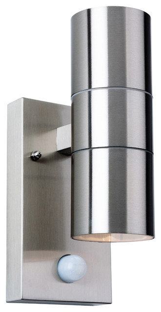 Colt Double Outdoor Wall Light With PIR
