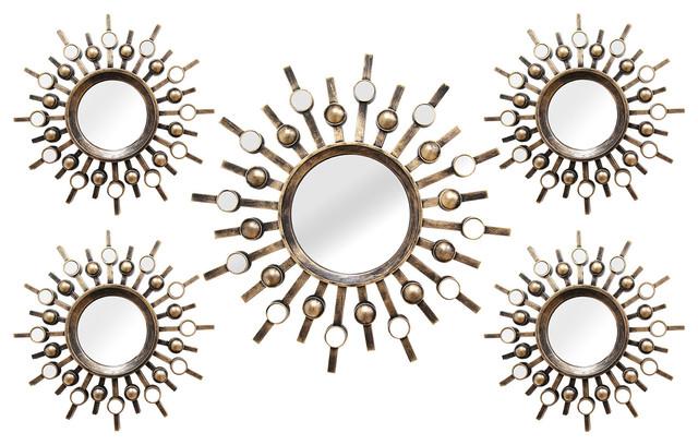 Stratton Home Decor 5 Piece Burst Mirrors.