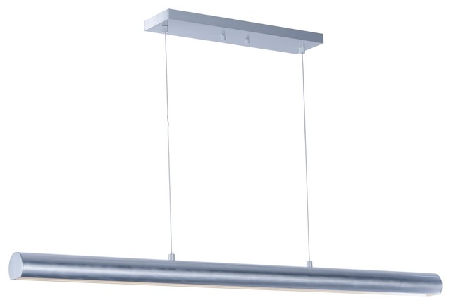 Et2 Alumilux Al Satin Aluminum Transitional Linear Pendant Light, 2 Led Light.
