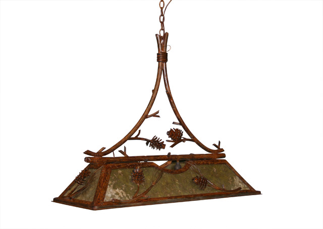 pine cone pool table light - rustic - pool table lights - by