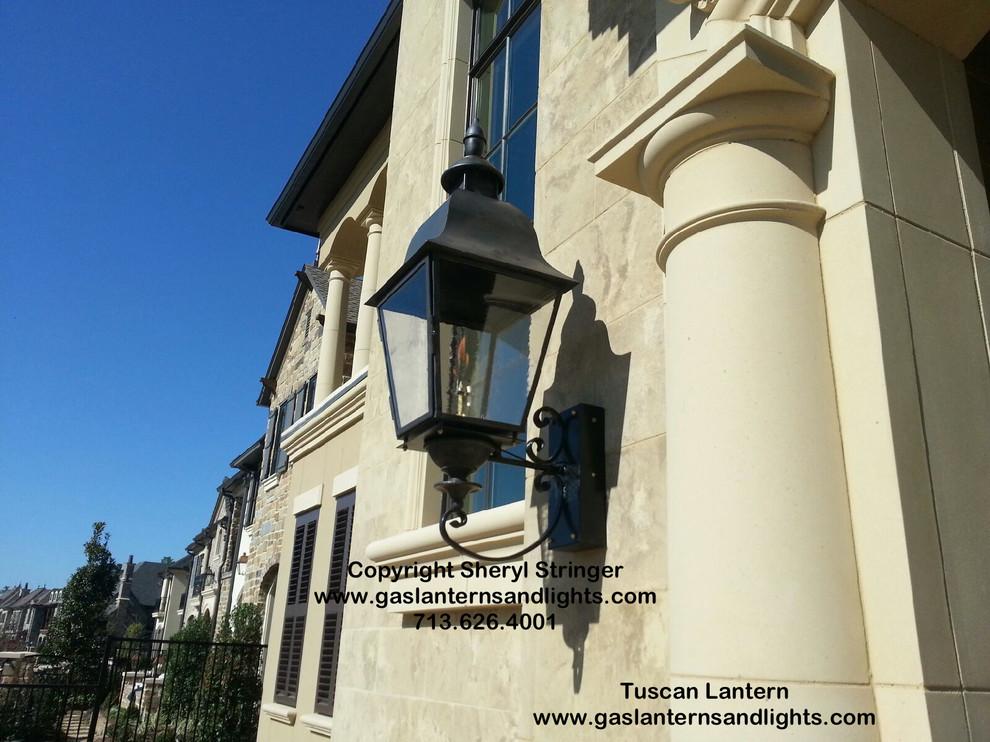 Sheryl's Tuscan Gas Lanterns with Steel Brackets