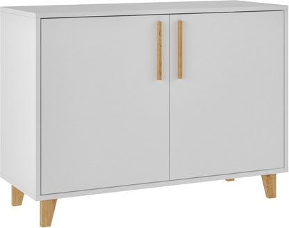 Herald Double Side Cabinet, White