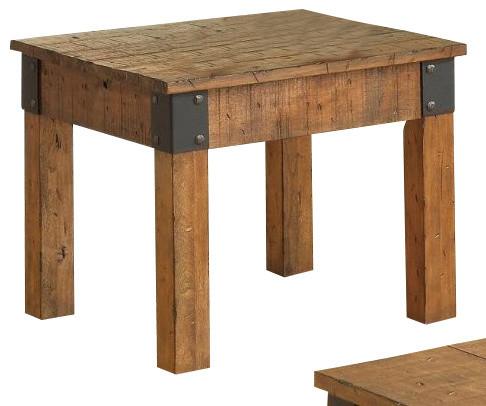 End Tables Burnt Alder Wood Everett Foyer Table Santa