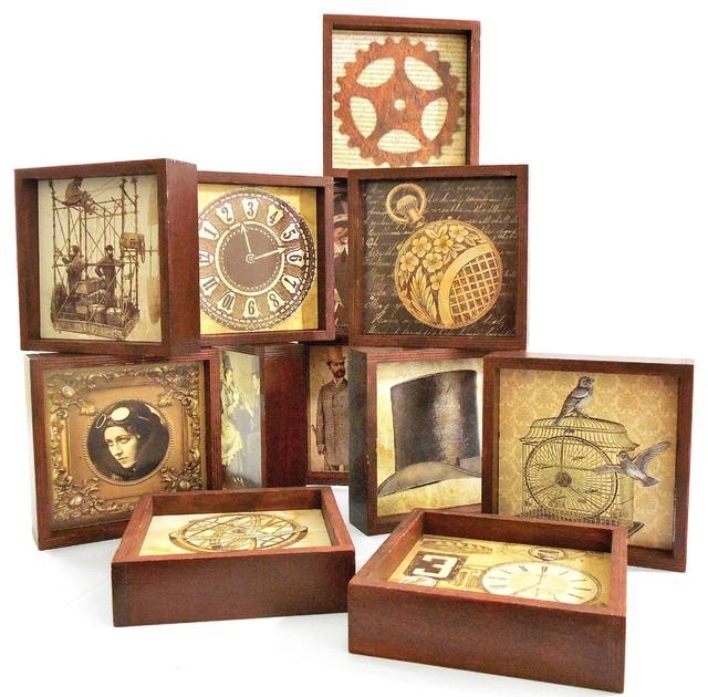 12 steampunk coasters wall decor tabletop decor 24 for Steampunk kitchen accessories