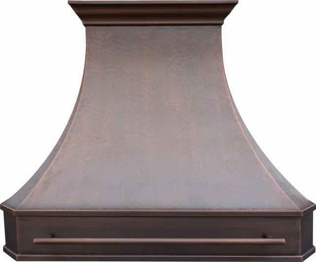 Rustic Range Hoods ~ Original copper hood with pot rail quot rustic range