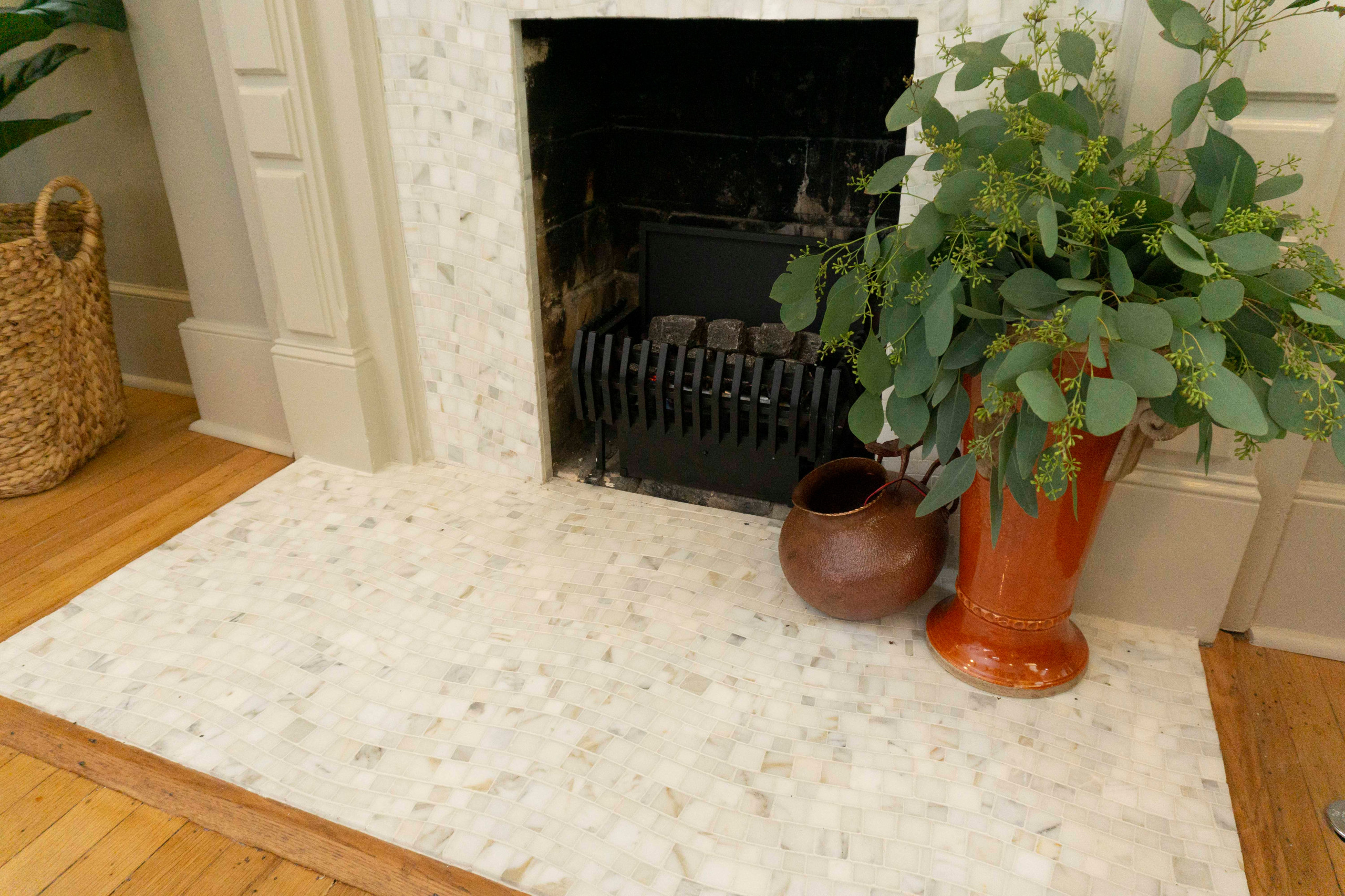 See the beautiful wave of the tile
