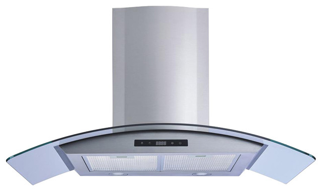 Winflo 30 450 Cfm Convertible Wall Mount Range Hood With Carbon Filters.