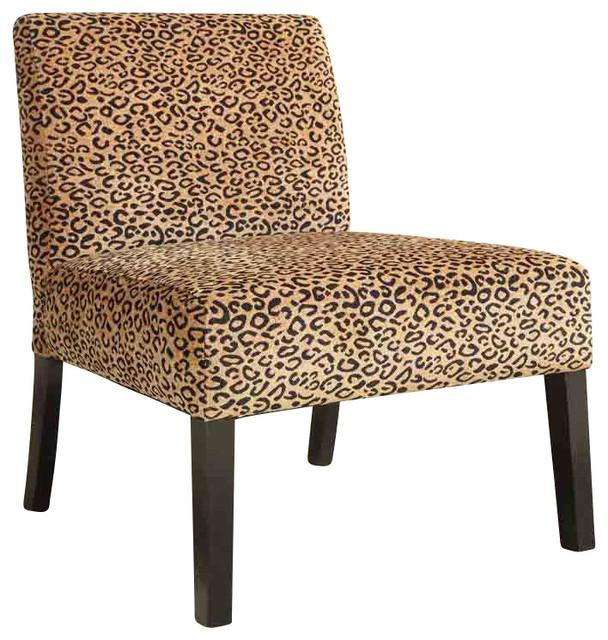 Admirable Coaster Accent Chair Leopard Pattern Beatyapartments Chair Design Images Beatyapartmentscom