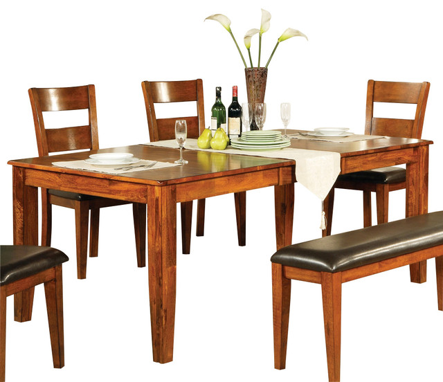 Gentil Steve Silver Mango Dining Table With Leaf