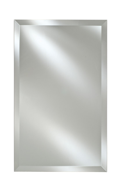 "Afina Basix 20""x26"" Single Door Medicine Cabinet, Frameless Bevel Edge."