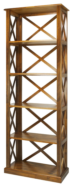 Bainbridge 6-Shelf Bookcase, Brown.