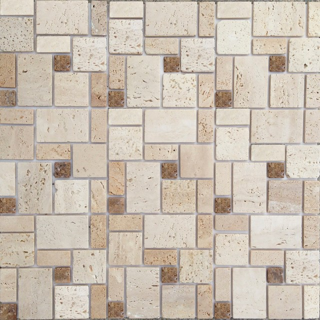 12 X12 Instant Mosaic L And Stick Natural Stone Wall Tile Set Of
