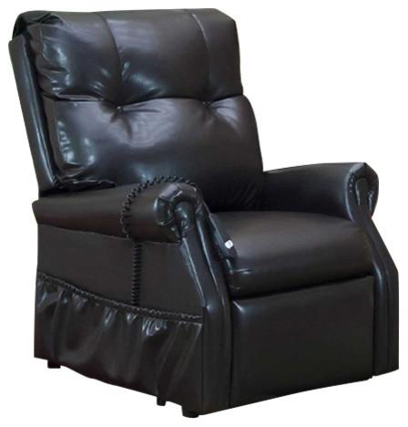Outstanding Med Lift Dawson Two Way Reclining Lift Chair Dark Brown Vinyl Dailytribune Chair Design For Home Dailytribuneorg