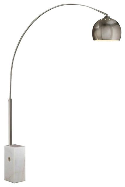 Sara Marble Floor Lamp, White