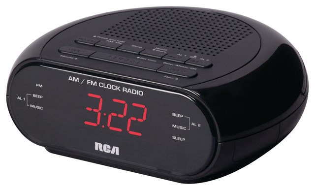 Rca Alarm Clock Radio With Red Led And Dual Wake Contemporary