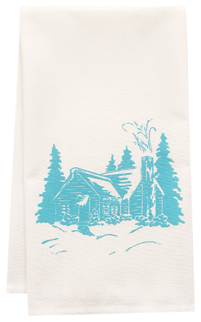 Organic Cabin Tea Towel