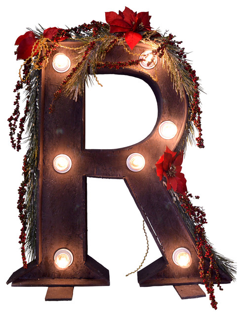 "Illuminated Christmas Letter ""R"""