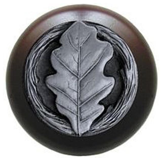 Notting Hill - Notting Hill Oak Leaf/Dark Walnut Wood Knob ...
