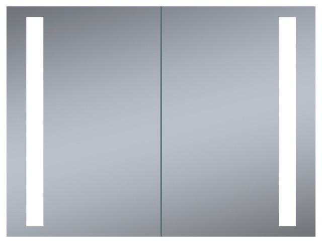 """Coleen Led Double Door Recessed Medicine Cabinet, 40""""x26""""."""