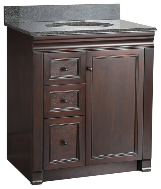 Left Side Sink Vanity : ... Vanity With Left Side Drawers traditional-bathroom-vanities-and-sink