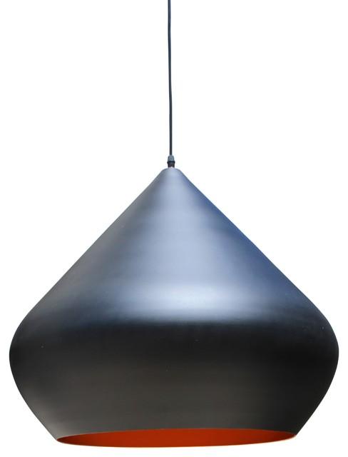 Oasis Black Drum Pendant Chandelier Light Large