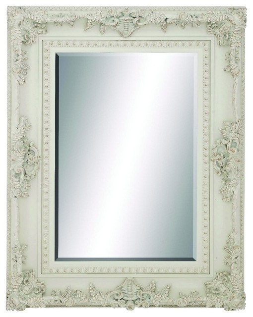 Victorian Rectangle Wood Wall Mirror Carved An Antique