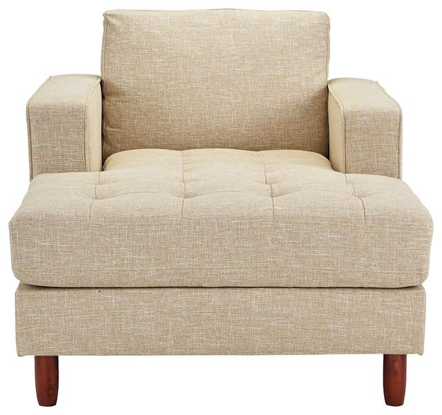 Grasby Tufted New Velvet Chaise Lounge, Emerald
