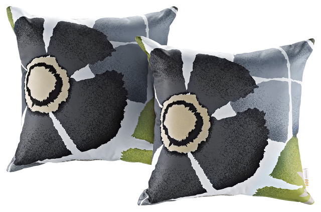 Modway Modway 2-Piece outdoor Patio Pillow Set, Botanical
