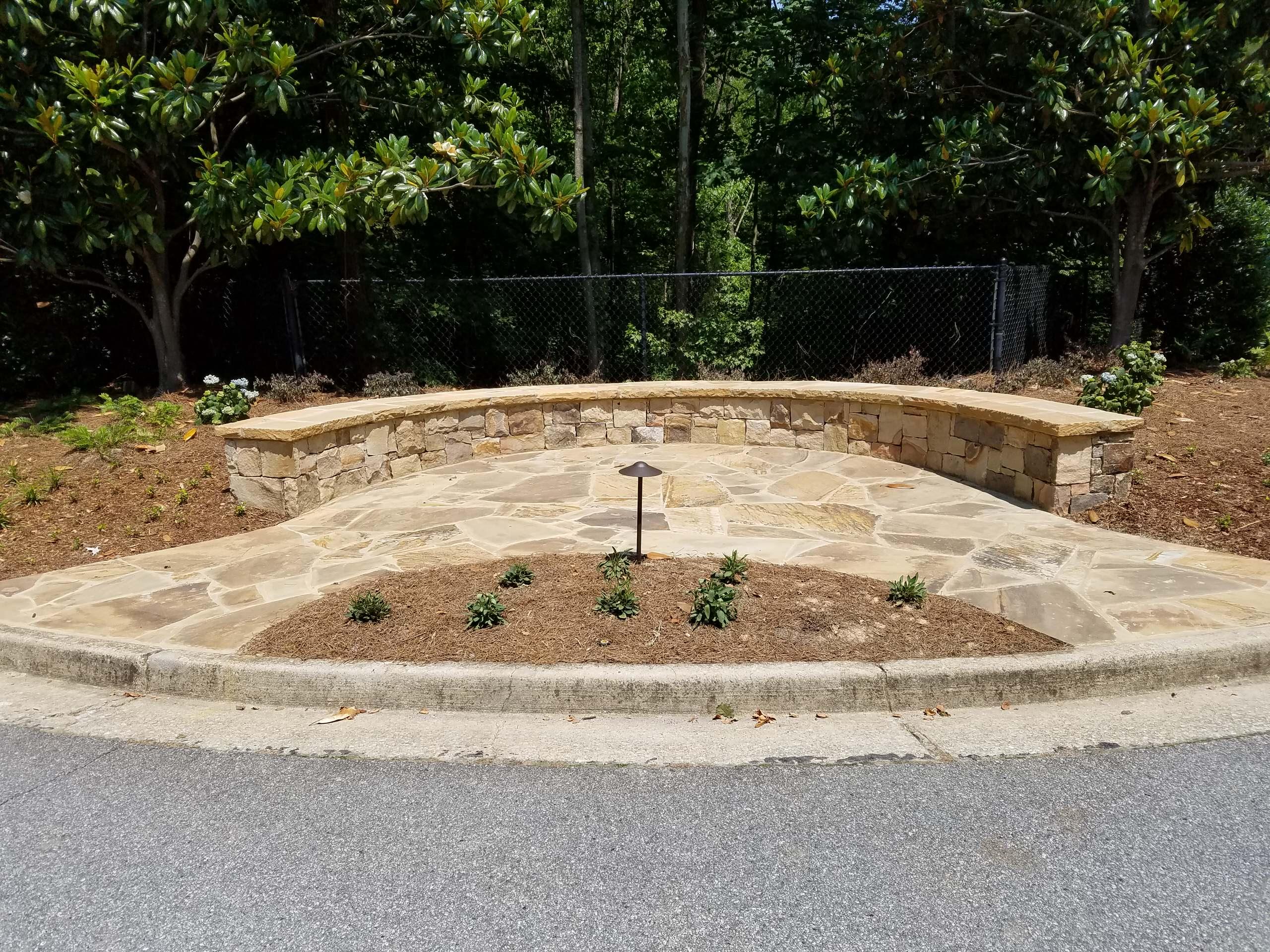 Stone seating area