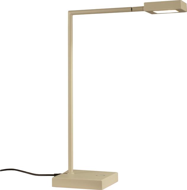 Square Table Lamp, White
