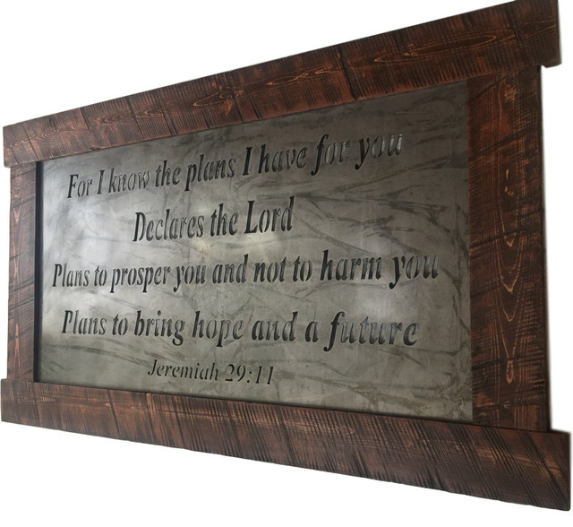 Jeremiah 29:11 Large Metal Wall Art - Traditional - Metal Wall Art ...