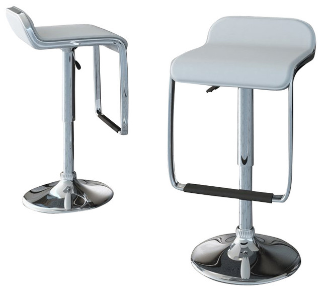 Sonax Corliving Bar Stools With Footrest White Leatherette Set Of 2