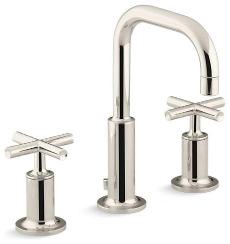 Kohler Purist Widespread Bathroom Faucet, Vibrant Polished Nickel