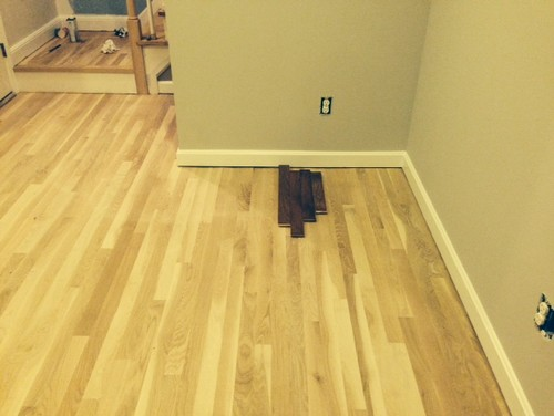 Dark Stain Or Natural Oak Floor Finishing