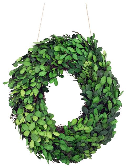 Modern Home 12 Real Preserved Boxwood Monogram Wreath Letters, O.