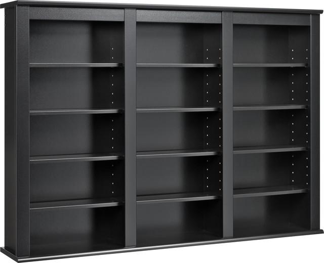 Triple Wall Mounted Storage, Black.