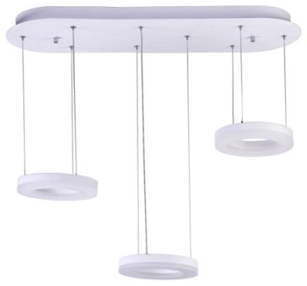 Finesse Decor Hoops Chandelier 3-Light