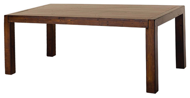 Post & Rail Dining Table 71'',, Jamaican Sunset
