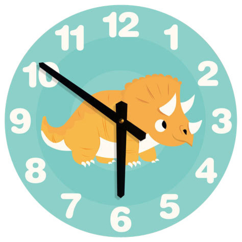 Nursey Code Dinosaur Wall Clock Kids Clocks Houzz