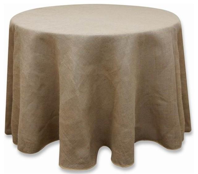 120 Quot Burlap Round Tablecloth Natural Brown Rustic